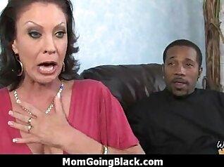 Chubby mature Masturbating A Black Cock