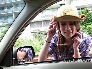 Carmen gets fucked in public on the lake side and teen beauty cowgirl