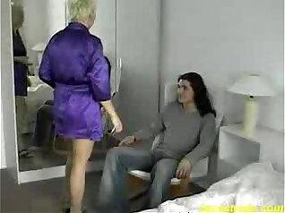 Amazing Lesbian In Uniform Moms Room