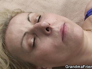 Busty blonde whores swallows load of enormous cock outdoors