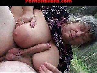 Big booty nanny with big tits gives great blowjob