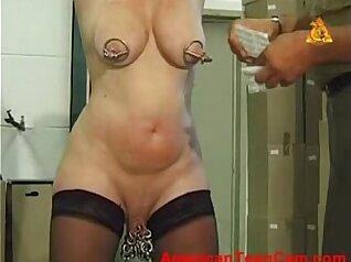 Busty mature slave slut gets analized