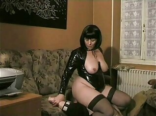 Classy femdom plays with guys while arresting and killing him