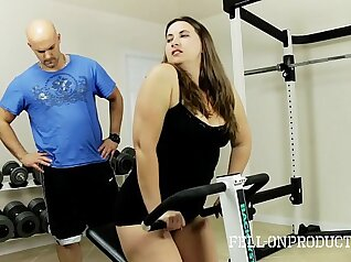 Britney Marie is getting her wifes pussy licked and pounded in the gym