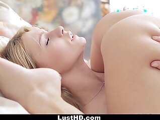 Busy russian babe masturbates with nice dildo