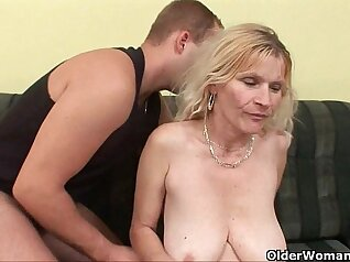 Bigtits german mother with hairy pussy fucked