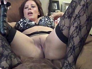 Beautiful milf black stockings gets a creampie