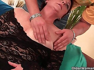 Cock sucker Blondie Hairy gets her pussy ripped with Jockstrap