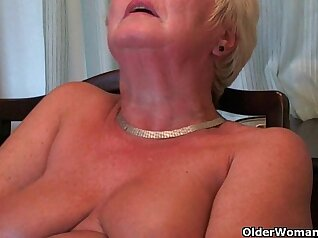 Busty grandma fucked by jock
