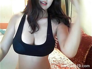 hot skinny Korean with a big ass is getting some hard dick in her pussy