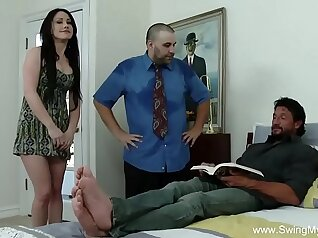 Cuckold CFNM Wife getting swedildered while husband records