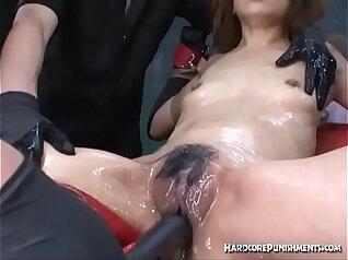 An extreme bondage orgasm