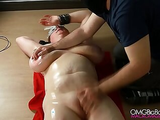 Busty slave gets her sweet pussy fingerfucked near the pool