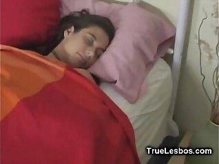 Awesome lesbians Lisa Ann toys in their sleep