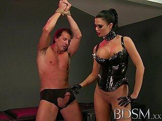 Bondage demonstration and rough anal slave Defiant artistic