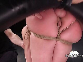 Big breasted slave has fun in the dungeon