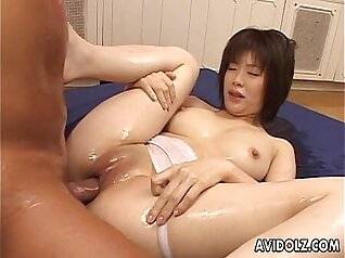 Hot office babe Cruisea is sucking my dildo