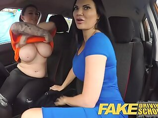 busty lesbians in her stockings on school n eat out their pussy