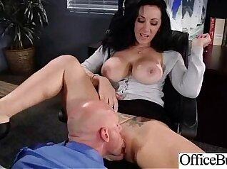 Busty secretary fucked deeply in the office