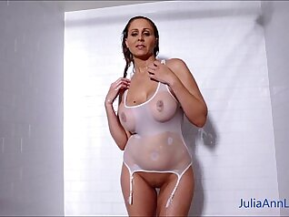 Big tits milf banged in the shower