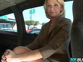 Busty blond mommy with amazing rack Ashley Young rides huge cock