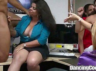 Naked woman Lucia Espanaazes office cock gang bang