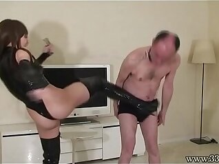 Femdom japanese mistress fucks her client with her warm smile