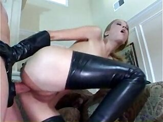 Barbie Puppy Having Latex Anal Sex in Stockings Now