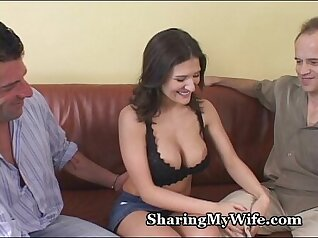 bunch of sluts are sharing one cock