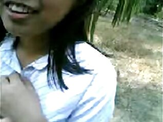 Amateur curvy asian loves huge dong outdoors
