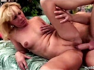 Blonde mature with nice tits rammed hard by young stud