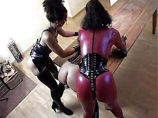 Fetish hardcore lesbian sex just as intense IIisa is hungry