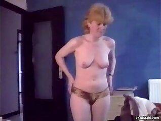 Sloppy Granny Fucked Hard by Cocks She Strokes