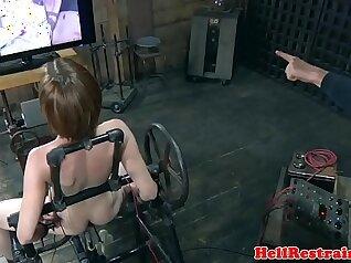 Online cam sex doll in brutal bondage