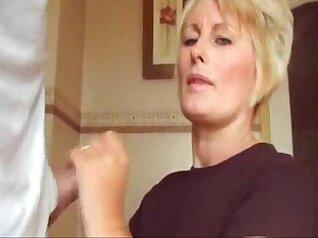 Actor blows and fucks blonde mom cumshot